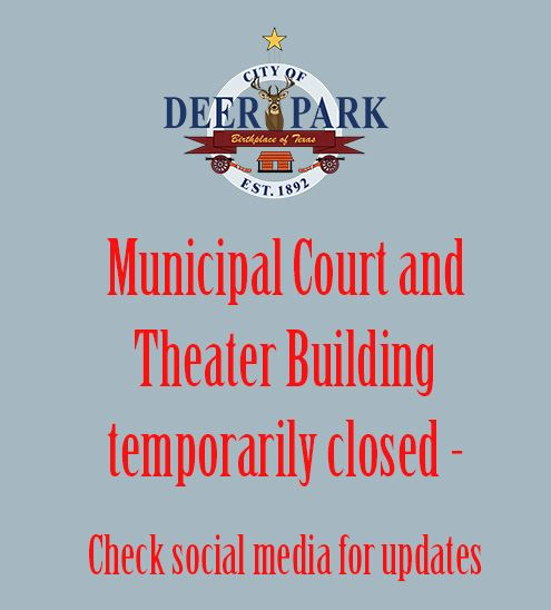 Municipal Court and Theater Building - Temporary closure
