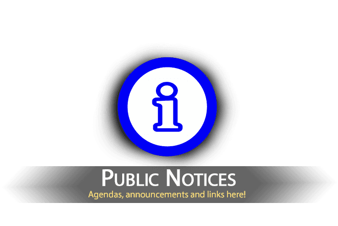 Public Notices - Agendas announcements and more